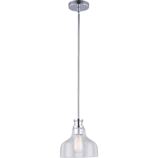 Home Impressions 1-Bulb Chrome Incandescent 8 In. Pendant Light Fixture